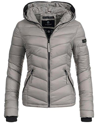 Marikoo Damen Jacke Übergangsjacke Steppjacke Kuala (vegan hergestellt) Grau Gr. XL (Leichte Daunenjacken)
