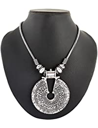 Archiecs Creations Silver Plated Strand Necklace For Women (Handi_163)