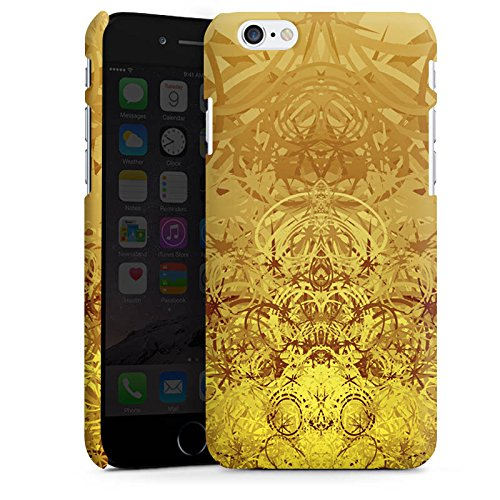 Apple iPhone X Silikon Hülle Case Schutzhülle Gold Muster Struktur Premium Case matt
