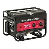 Briggs & Stratton Sprint 3200A Generatore Portatile a Benzina-Potenza di Funzionamento di 2500 watt/3125 Watt di avviamento, 030672A, W, Nero