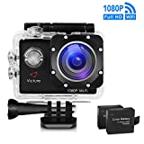 Victure Action Kamera WIFI 14MP Full HD 1080P Sport Action Camera Cam 2.0 Zoll Wasserdichte...