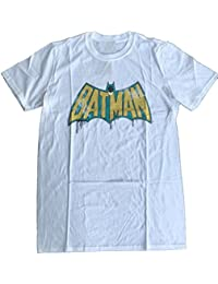 BATMAN - ORIGINAL TV LOGO DRIPPING DISTRESSED - OFFICIAL MENS T SHIRT