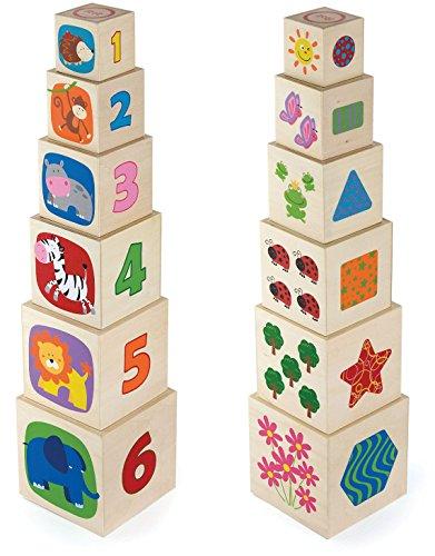 Viga Toys - 50392 - Forme À Trier Et À Empiler - Cubes...