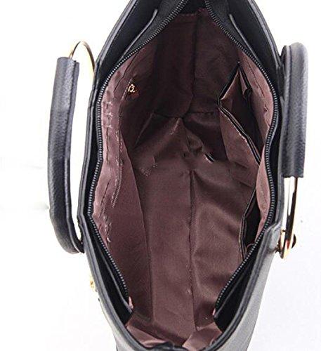 Damen-Tasche Umhängetasche Handtasche Messenger Tasche Freizeit Reisetasche Nieten Purple