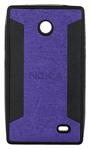 iCandy™ 2 Color Soft Lather Finish Back Cover For Nokia X / X+ - Purple  available at amazon for Rs.115