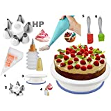 Cake Decoration Tools Set Decorating Turn Full Rotating Round Table with accessories (hpk-bdjk5)