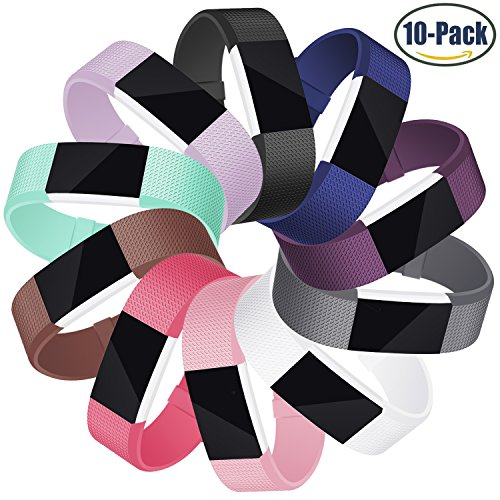 Für Fitbit Charge 2 Armband, Mornex Original Ersatzarmband Sport Fitness Watch Band für Fitbit Charge 2 Armband, 10Pack, Small