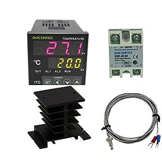 Inkbird Dual Digital PID Temperature Controller ITC-100VH + K sensor Und schwarzes Kühleisen,Heizen & Kühlen Thermostat