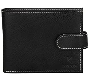 K London Men's Black Wallet