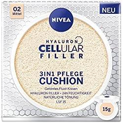 NIVEA 3in1 Anti-Age Pflege Kissen für natürliche Tönung und Feuchtigkeit, Für Mittlere Hauttypen, 15 ml