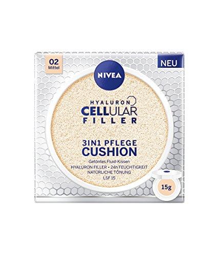 NIVEA 3in1 Anti-Age Pflege Kissen für natürliche Tönung und Feuchtigkeit, Für Mittlere Hauttypen, 15 ml -