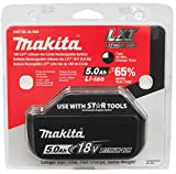 Makita BL1850 18 V 5.0 Ah Li-ion LXT Battery Pack