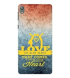 EPICCASE art of heart Mobile Back Case Cover For Sony E5 (Designer Case)