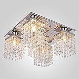 ChuanHan Kronleuchter Deckenleuchte Quadrat Kristall Kronleuchter Zeitgenössische Moderne Einfache Restaurant Bar Wohnzimmer Schlafzimmer Küche Lampen