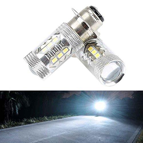 2 piezas de PX15D H6 80W 16 LED de la motocicleta Luces...