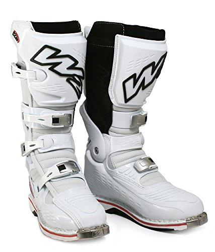 W2 Boots - Stivali da Moto, Bianco/Nero, 42