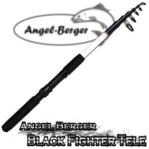 Angel Berger Black Fighter Tele Teleskoprute Spinnrute