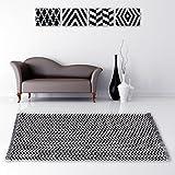 Teppich Läufer Matte Unterlage Vorleger Fußabtreter, breite Auswahl an modernen Fleckerl- und Baumwollteppiche (60x90 cm / Arrow)