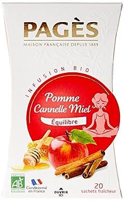 Pagès Infusion Pomme Cannelle Miel Bio 20 sachets - Lot de 2