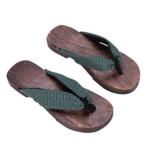 Zehensandalen Holz Sandalen Herren Damen Verstopfen Hölzern Hausschuhe Outdoor Plattform Schuhe Japanische Holzschuhe Pantoletten Flip Flops Pantoffeln Strandschuhe Badeschuhe Surfschuhe