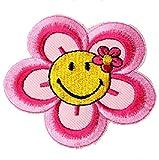Dosige 1 Stück Nähen Patch Aufnäher Patches DIY Kleidung Aufkleber für T-Shirt Jeans Hut Dekor Smiley Blumen 7.6CM*6.6CM