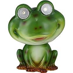 GLOBO de rana lámpara de jardín Solar LED 2, verde