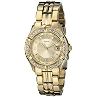 GUESS Gold-Tone Bracelet Watch with Date Feature. Color: Gold-Tone (Model: U85110L1)