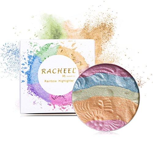 OYOTRIC Six-color Rainbow Shimmer Sleek Highlighter Face Blusher Powder Palette Face Base Shine Illuminator Makeup Contour