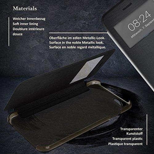 iPhone 6S Hülle Pink mit Sicht-Fenster [OneFlow Focus Cover] Ultra-Slim Schutzhülle Dünn Handyhülle für iPhone 6/6S Case Flip Handy-Tasche Klapp-Hülle ZEN