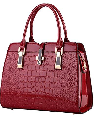 Menschwear Ladies Handbag Brands Borse Eleganti Borse Shopper Zipper Borse Donna Rosso-vienna Rosso-vienna