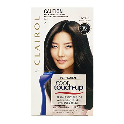 Clairol Nice N Easy Root Touch-Up, Hair Color, Black #3 - Kit (Haarfarbe) - Clairol Touch-up