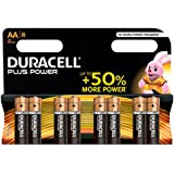 Duracell Plus Power Alkaline 1,5 V – non-rechargeable Batteries (Alkaline, Cylindrical, AA, Black, Gold, plaquette thermoformée)