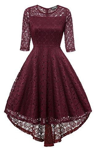 Gigileer Vintage Damen Spitze Frack Abendkleider Cocktailkleid Ballkleider festlich Kleid