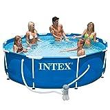 Intex 56996GS - La piscina de tierra piscina acero ajustado rondo, tuv / gs, azul, ø 366 x 76 cm