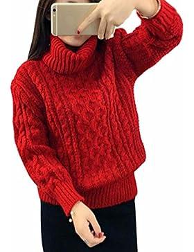QIYUN.ZJersey De Cuello Alto De Las Mujeres De Invierno Géneros De Punto Trenzado Espesar Suéter