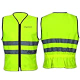 A-Pro Bright Vest Hi Vis Motorcycle Mortorbike Scooter Quad Gilet High Visibility M