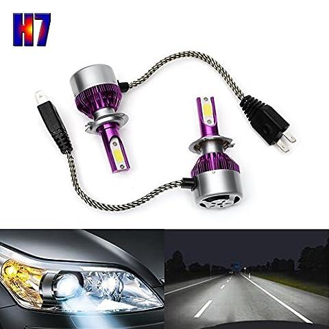 H7Phare LED pour lampes ampoules de remplacement de conversion kit 6000K Super Lumineux Blanc 7200lm 110W