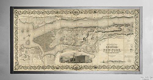 1836Karte New York New York Topographical der Stadt und Grafschaft New York, und in der angrenzenden Cou Historic Antik Vintage Reprint Ready Zum Rahmen (Vintage New-york-city-map)