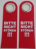 GKA Dekoschild Türschild Filz Türhänger rot - Bitte nicht stören!!! - Bin gleich zurück!!! - Willkommen!!! beidseitig bedruckt (Bitte nicht stören - Bitte nicht stören)