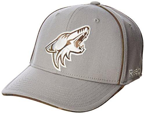 Reebok NHL Herren Cap NHL Sp17, strukturiert, Grau, Herren, NHL SP17 Gray Camo Structured Flex Cap, grau, Small/Medium Camo Flex Cap