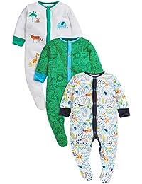 next Bebés Niños Paquete De 3 Pijamas Peleles Estampado Safari Colores Varios (0 Meses-2 Años)