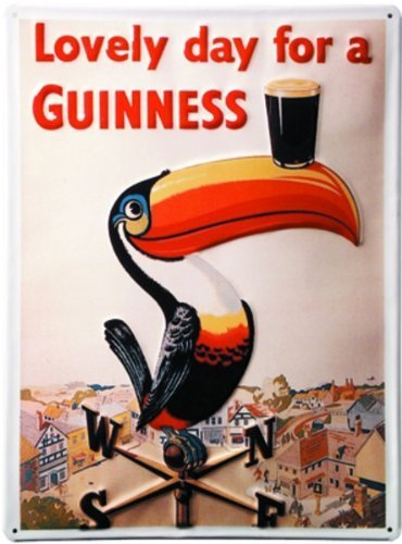 cartello-in-alluminio-art-deco-lovely-day-for-a-guinness-110-x-80-mm
