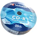 Verbatim CD-R - CDs vírgenes (CD-R, 700 MB, 52x, 25 unidades)