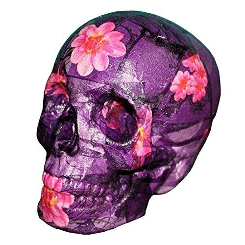 Calavera decorativa - Cráneo tamaño real - Morada