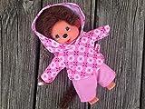 Puppenkleidung handmade für MONCHICHI Gr.20 MONCHHICHI Bekleidung Kapuzenshirt Hoodie + Hose rosa Blümchen Kleidung
