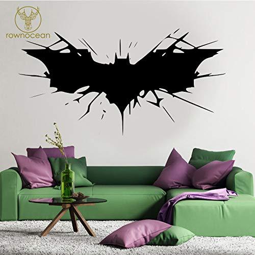 Batman Superhero Logo Transfer Wandaufkleber Steuern Dekor Abnehmbarer Innendekor-Wandaufkleber In Familien- Und Gartenblau 110x57cm