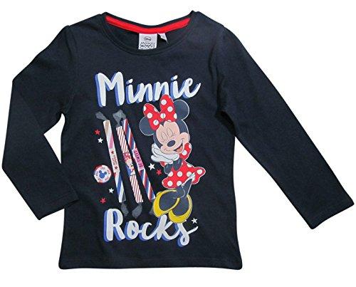 Biene Pullover (Minnie Mouse Kollektion 2017 Langarmshirt 86 92 98 104 110 116 122 128 Mädchen Neu Shirt Top Maus Herbst Winter Disney (98 - 104, Marine))