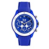 Ice-Watch - Ice Dune Admiral Blue - Montre Bleue pour Homme avec Bracelet en Silicone - Chrono - 014218 (Large)