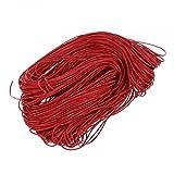 corda di cotone - SODIAL(R) 45 metri Cerato allacciatura cavo del cotone - Rosso