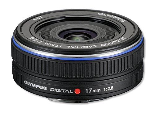 Olympus M.Zuiko Digital 17mm - Objetivo para Micro Cuatro Tercios (distancia focal fija 17mm, apertura f/2.8-22) color negro